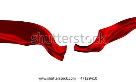 عکس استوک روبان قرمز بریده شده