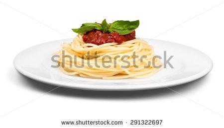عکس استوک از بشقاب اسپاگتی
