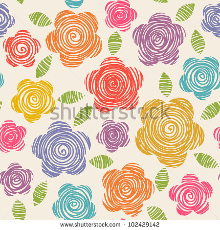 وکتور استوک از گل های نقاشی سبک کودکان